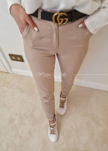 Spodnie cygaretki Beige