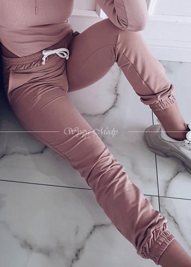 Spodnie marszczone Dirty Pink