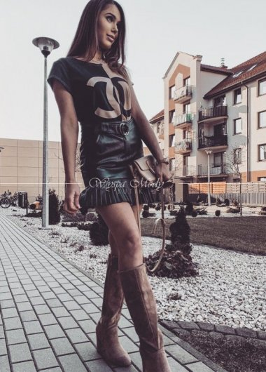 Tshirt Chanel Beige&black