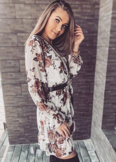 Sukienka FLOWERS WHITE
