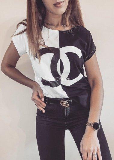 Tshirt Chanel black&white
