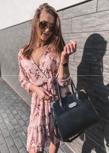 Sukienka flowers Pink