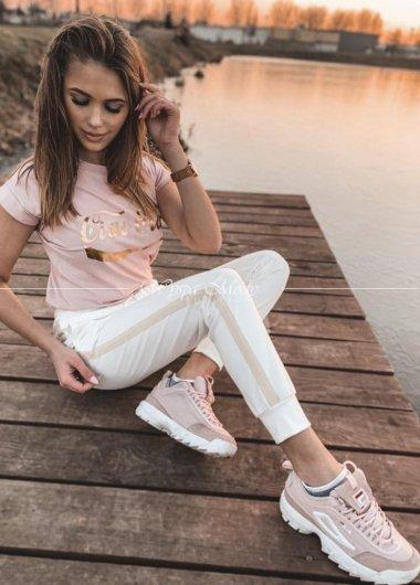 Spodnie Lampas white