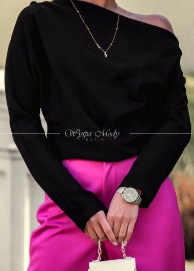Koszula simply na jedno ramie black