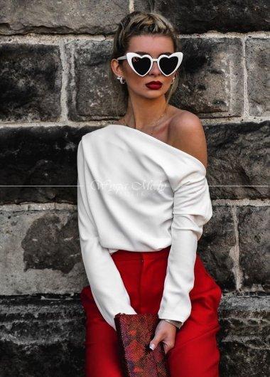 Koszula simply na jedno ramie white