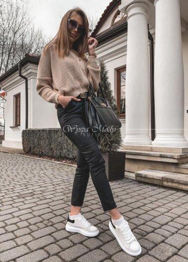 Spodnie cygaretki black