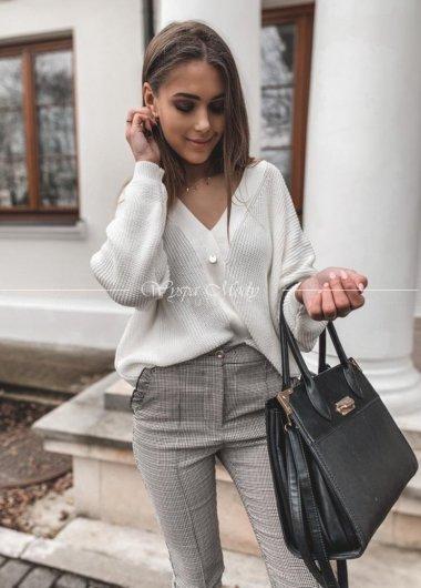 Sweterek dwustronny white