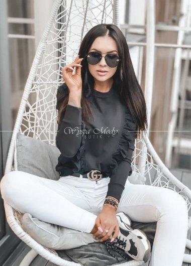 bluza koronka black