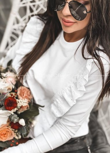 bluza koronka white