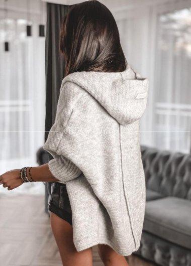 sweterek włoska przędza gris