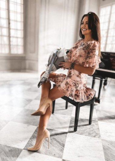 Sukienka szyfonowa Toscana pink
