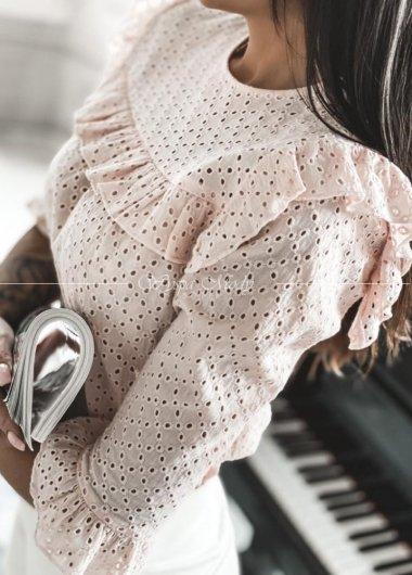 Koszula ażurowa pink