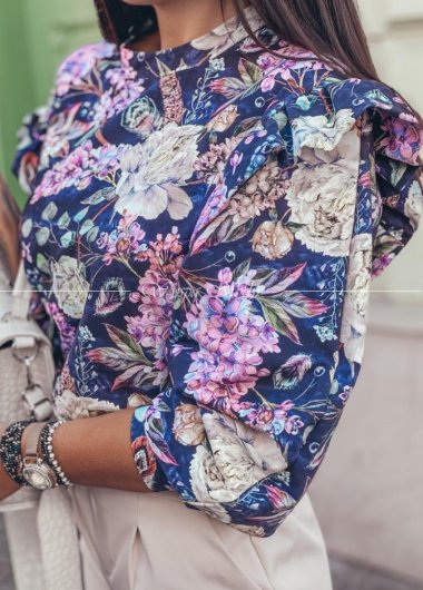Bluza fiolet flowers
