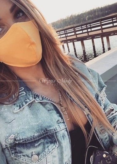 Maseczka bawełniana yellow