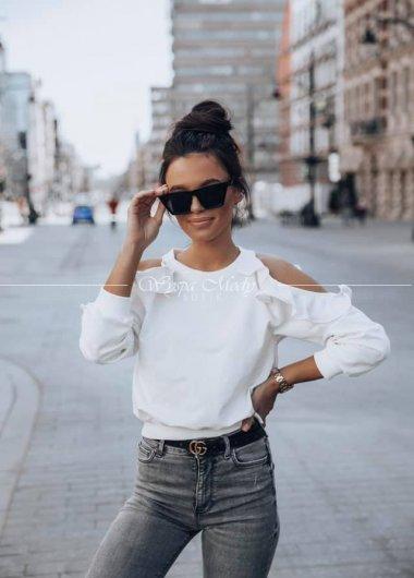bluza love me white