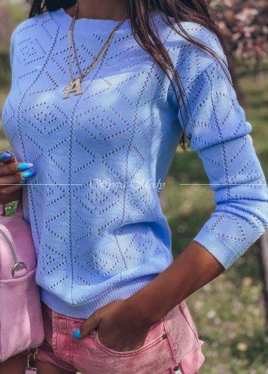 Sweterek ażurek Blue