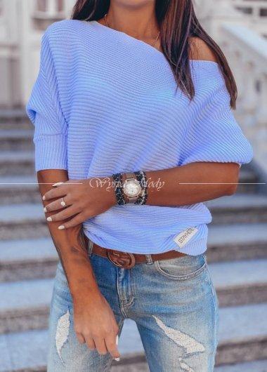 Sweter asymetryczny Blue migallo