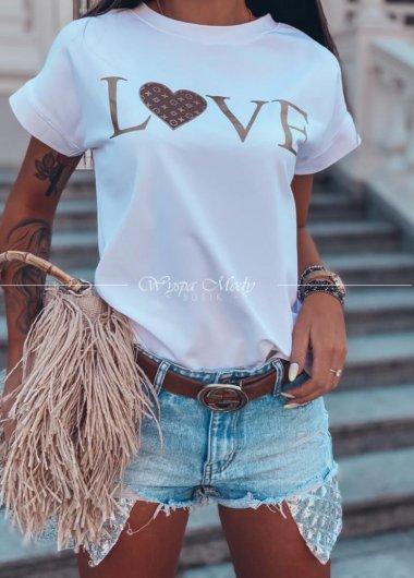 Tshirt love white