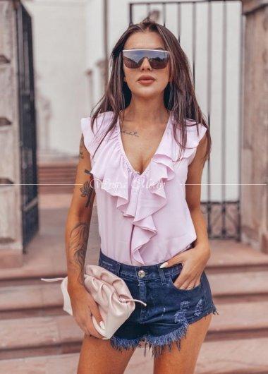 Koszula falbana lila