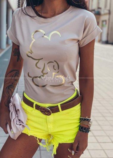 Tshirt miki Beige gold