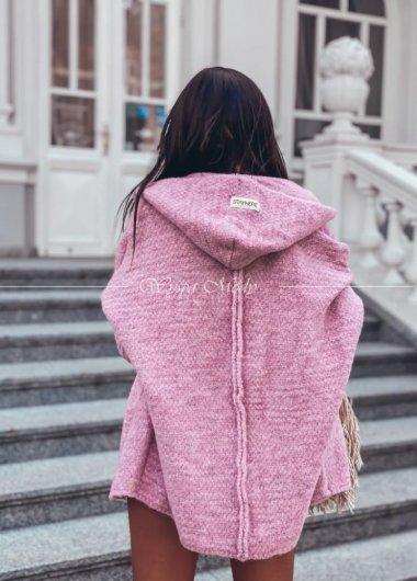 Sweter włoska przedza lila