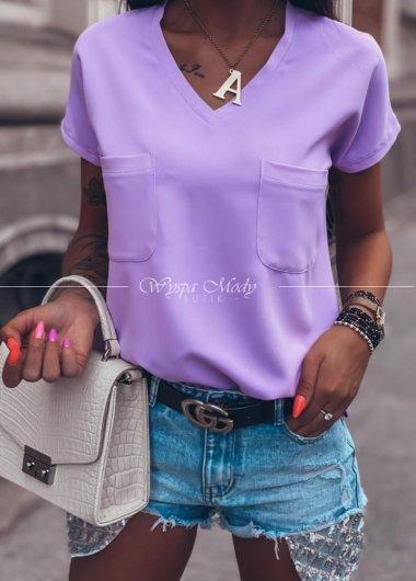Bluzka liliowa Chanel