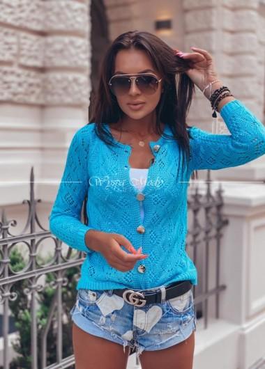 Sweter ażur Miami blue