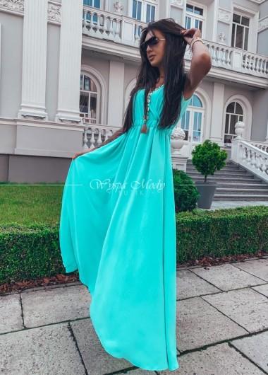 Sukienka Maxi Milagros mint ( wydłużony czas wysyłki )