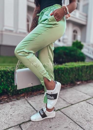 Spodnie dresowe satyna mint