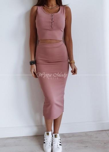 Komplet spódniczka + Top Dirty Pink