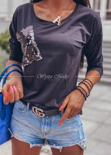 Bluzka kieszonka black