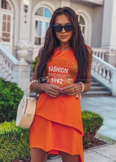 Tuniko-sukienka orange
