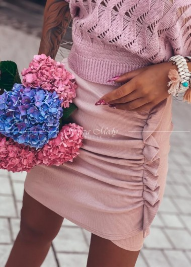 Spódniczka prążek Malaga Pink