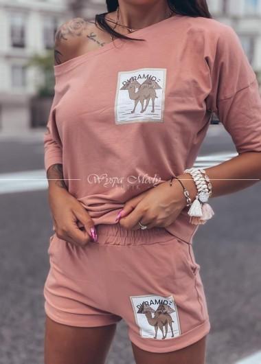 komplet Camel dirty pink