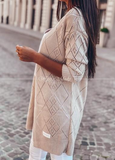 Sweterek ażurek Beige