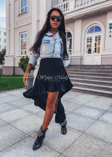 Spodnica asymetryczna lolita black