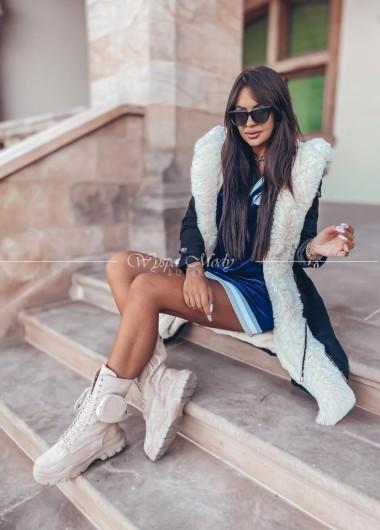 Płaszcz zimowy Mediolan black & Beige