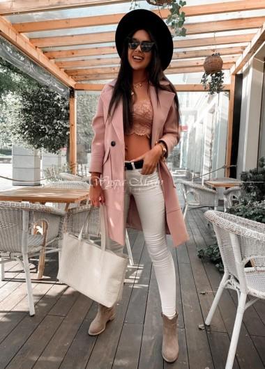 Płaszcz oversize Mediolan Pink