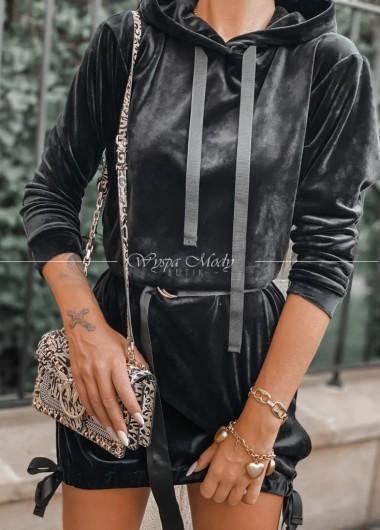 Sukienka Welurowa Mediolan black