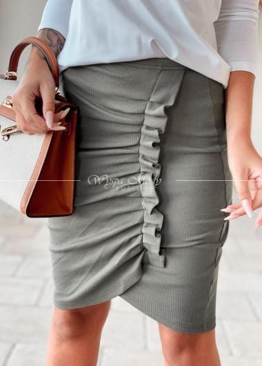 Spódnica prążek malaga khaki