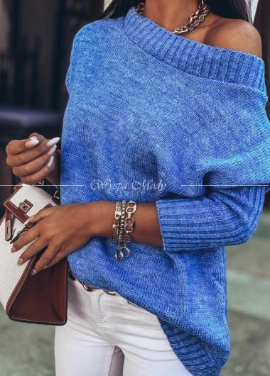 Sweter włoska przędą baby Blue