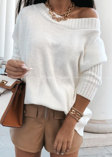 sweter włoska przędza white