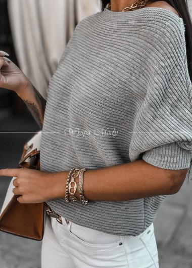 Sweterek kiki grey