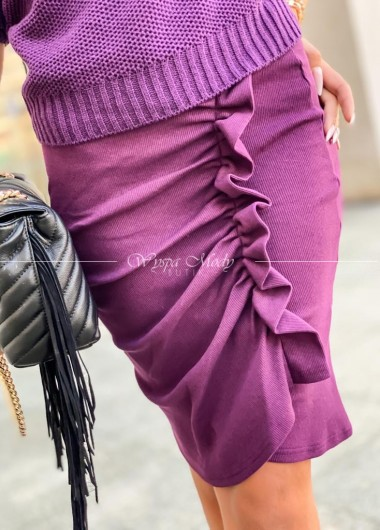 spódnica prążek malaga plum
