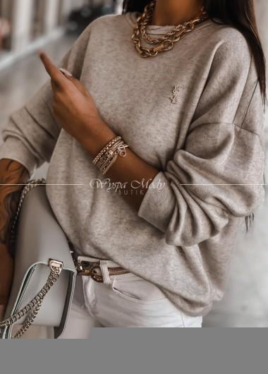 Sweterek ysl Beige