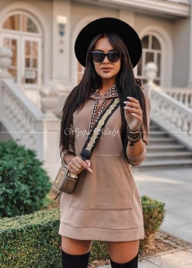 Sukienka dresowa Milano camel