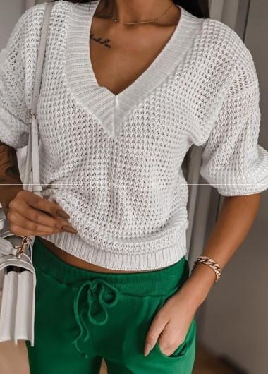 Sweterek Laki white