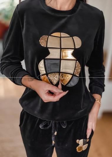 Welurowa bluza touse gold