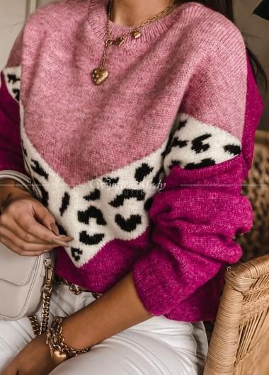 Sweterek monako pink