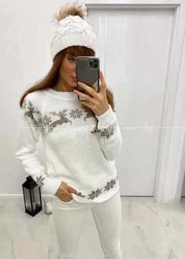 Sweterek winter white